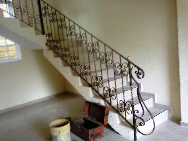 Barandal forjado en cuadrado macizo de 5 8 con remate - Barandales modernos para escaleras ...
