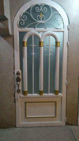 Puerta de dise o herreria y aluminio san pablo for Disenos de puertas de aluminio