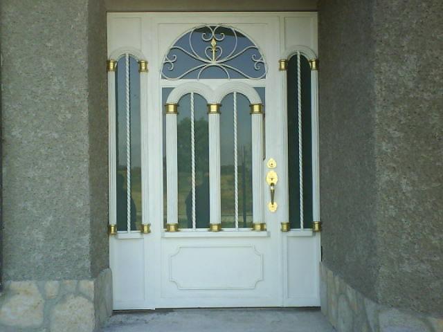 Puerta principal de dise o hsp41 herreria y aluminio san for Diseno puerta principal