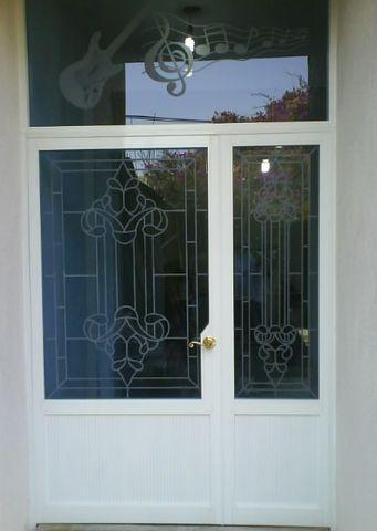 Puerta de dos hojas l nal pesada herreria y aluminio - Puertas de dos hojas ...