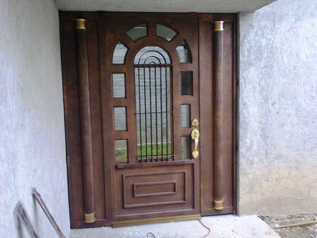 Puerta principal hsp 37 herreria y aluminio san pablo - Puertas de herreria para entrada principal ...